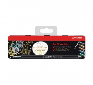 Stabilo Pen 68 - Metallic 6 ks box