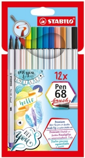 Stabilo Pen 68 - Brush - 12 ks
