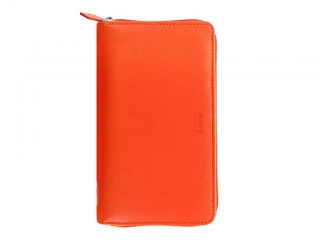 Diář Filofax Saffiano Compact Zip A6 - BRIGHT ORANGE