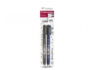 Tombow Fudenosuke Brush Pen - Sada 2ks