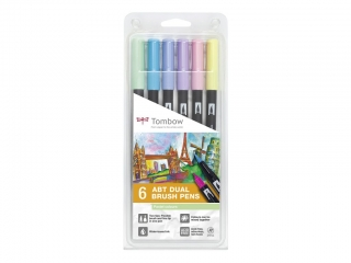 Tombow Dual Brush Pen Sada 6ks - Pastel Colours